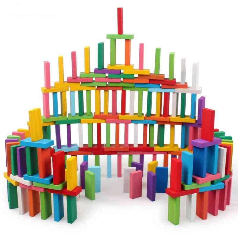 100pcs/set Wood Colorful Game Building Blocks - Learning Educational