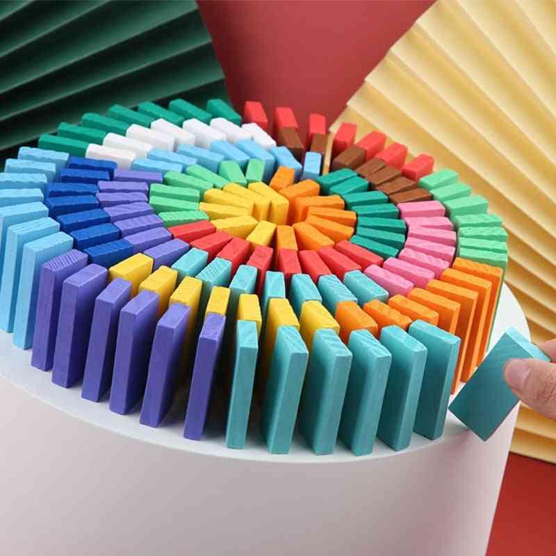 Rainbow Wood Domino Blocks Educational