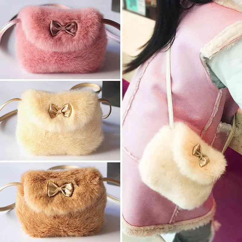Warmly Cross Body Mini Purse - Artificial Fur Bag