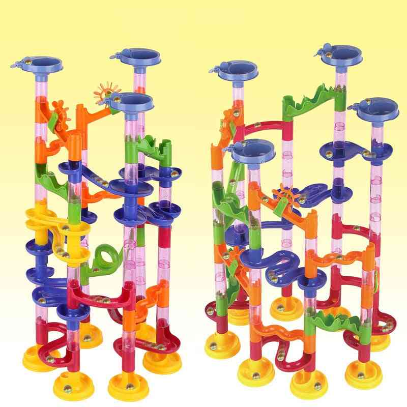 Kids Marble Path Gravitrax Track Building Pipe Blocks  Educational Toy