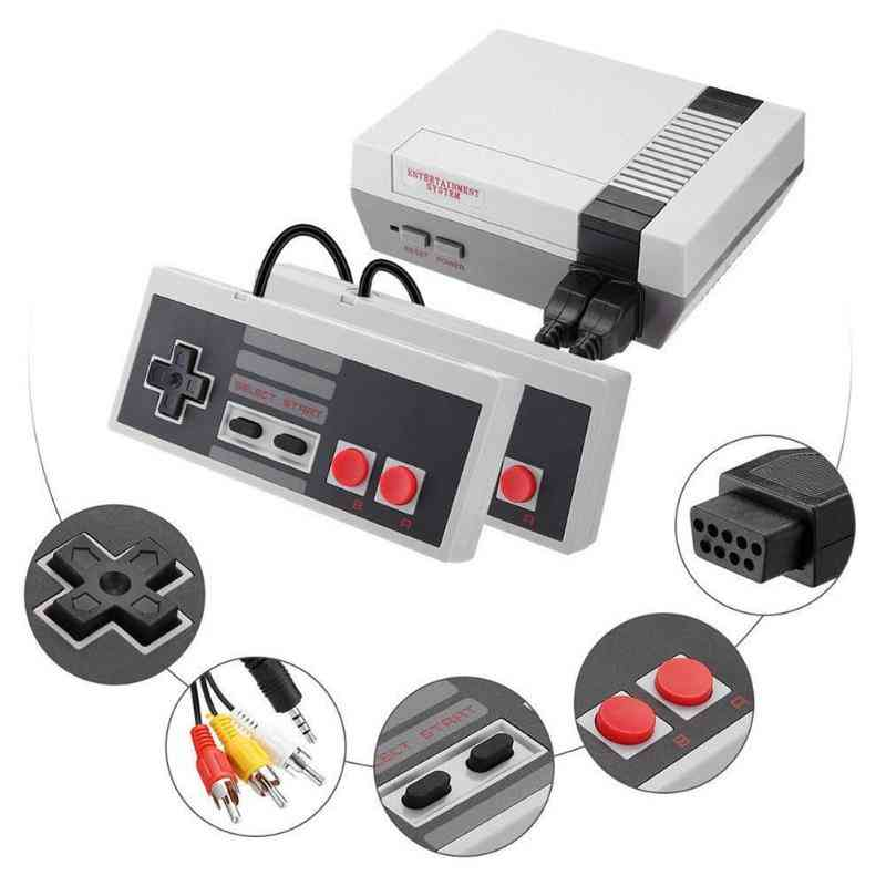 Mini, Retro Style, Handheld 4 Keys Game Console With Bult-in 620 Classic Games