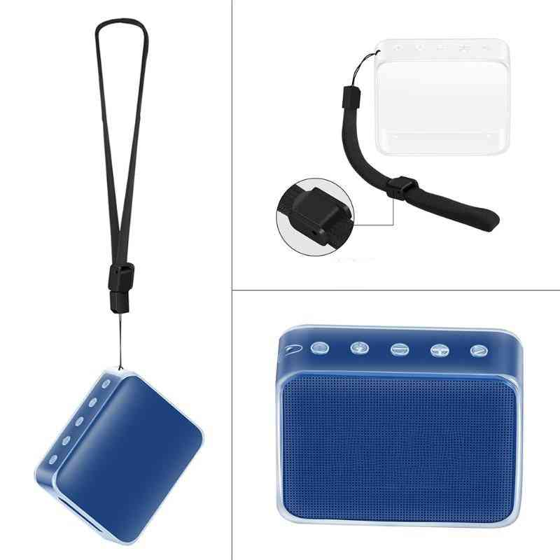 Tpu Protective Cover With Hand Strap For Jbl Go 2-bluetooth Speaker