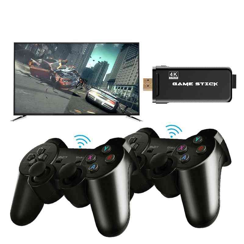 4k Ultra Hd Game Stick With 2.4g Double Wireless Controller Pad