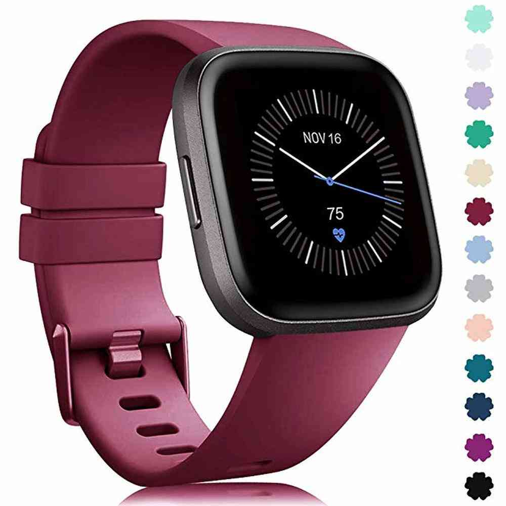 Soft Silicone Waterproof Replacement Band For Original Fitbit Versa 2
