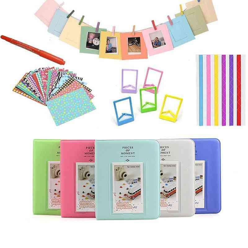 Color Stickers + Photos Album / Frames + Marker Pen