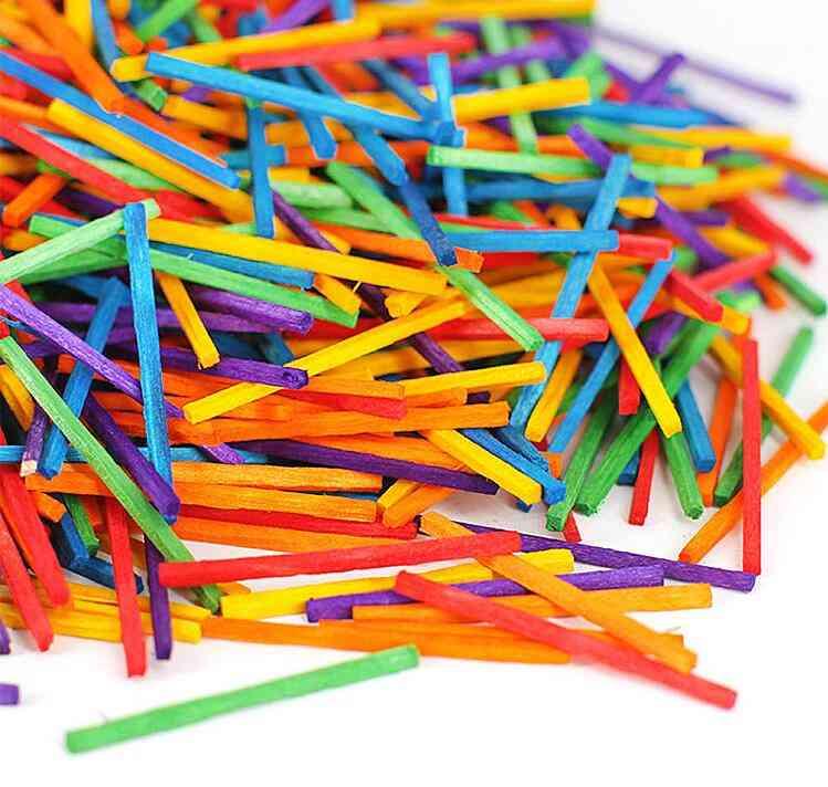 Color Matchstick Wooden Sticks, Kindergarten