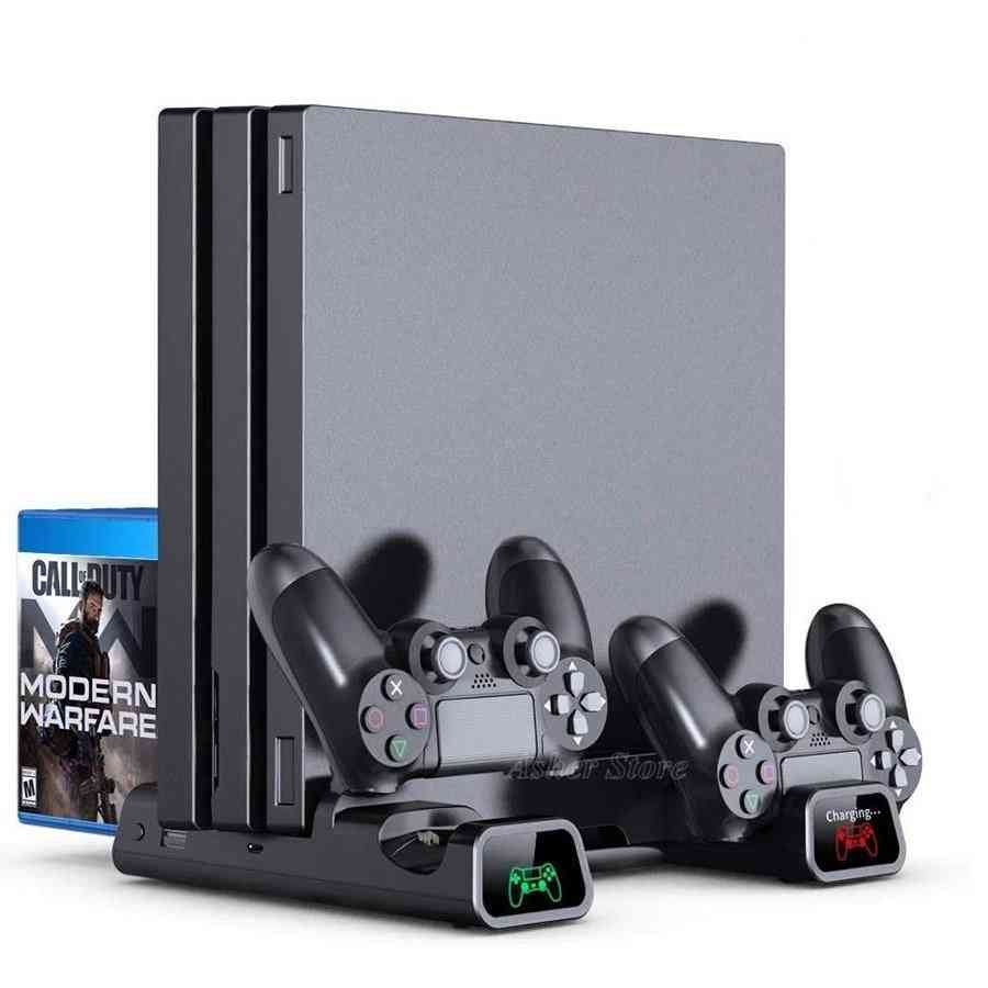 Ps Slim Console, Vertical Stand - 2 Controller Charging Dock