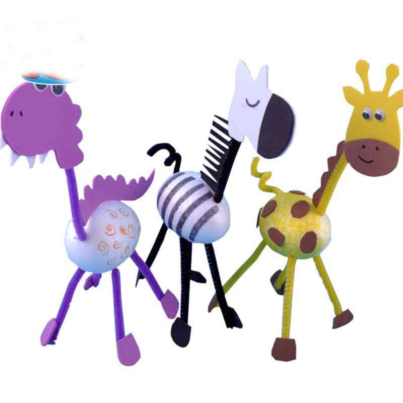 Diy Homemade, 3d Animals - Early Education