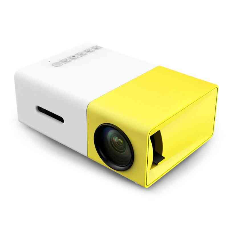 Home, Theater Mini Led Projector Withb 500lm Audio Hdmi Usb