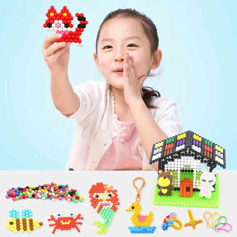 Creative Magic Diy Puzzle Beads,water Spray And Sticky Set - Handmade Educational For