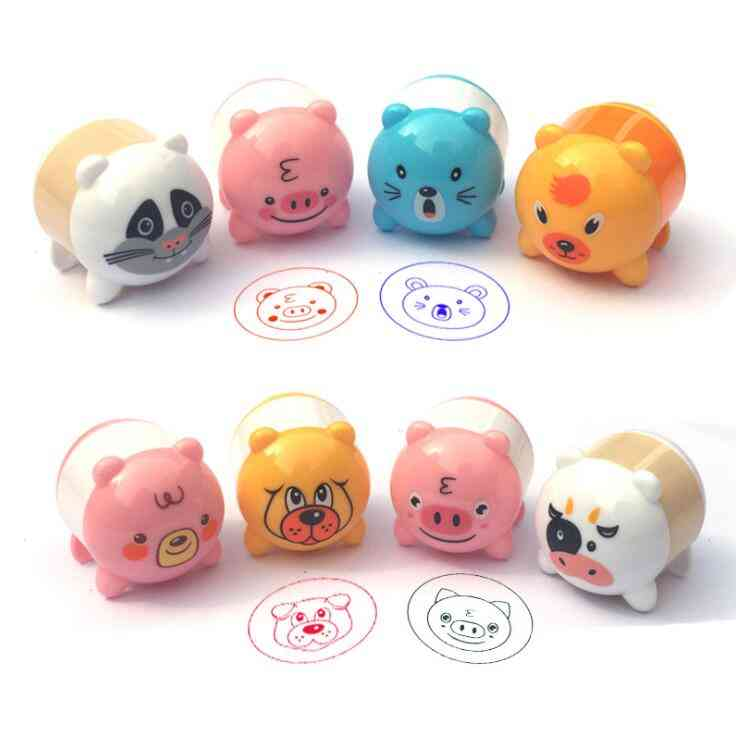 3pcs/set Cute Pig Shape Stamps Fun Diy Scrapbook Kids