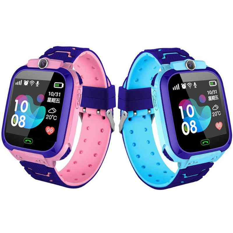 Children Smart Watch Camera Lighting Touch Screen Sos Call Tracking Location Finder