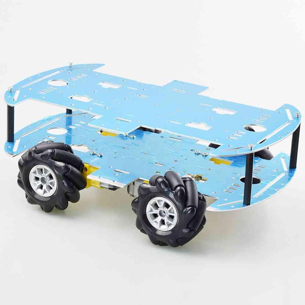 Mecanum Wheel Robot Car-chassis Kit With 4pcs Tt Motor For Arduino