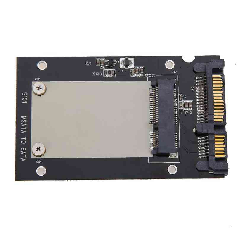 Universal Msata Mini Ssd To 2.5 Inch Sata 22-pin Converter Adapter Card