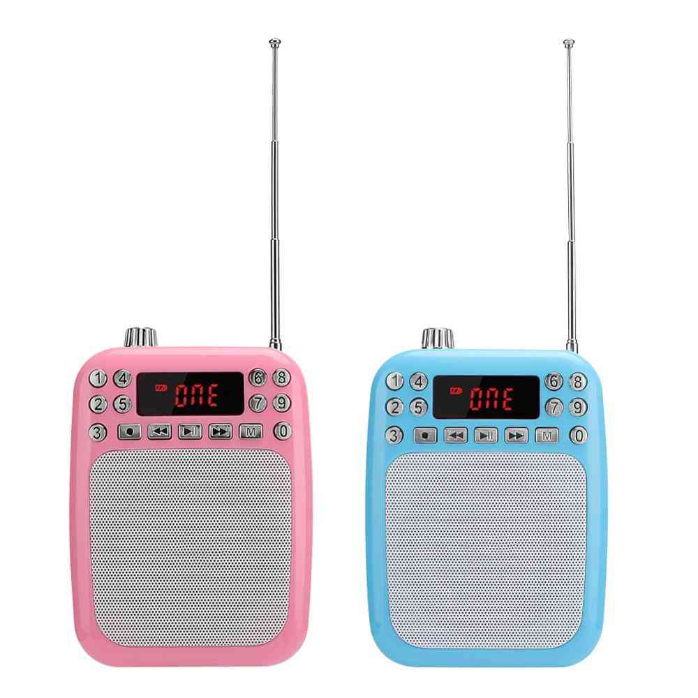 M301 Portable Fm Radio Recording Speaker For Multifunction Voice Amplifier Microphone Loudspeaker