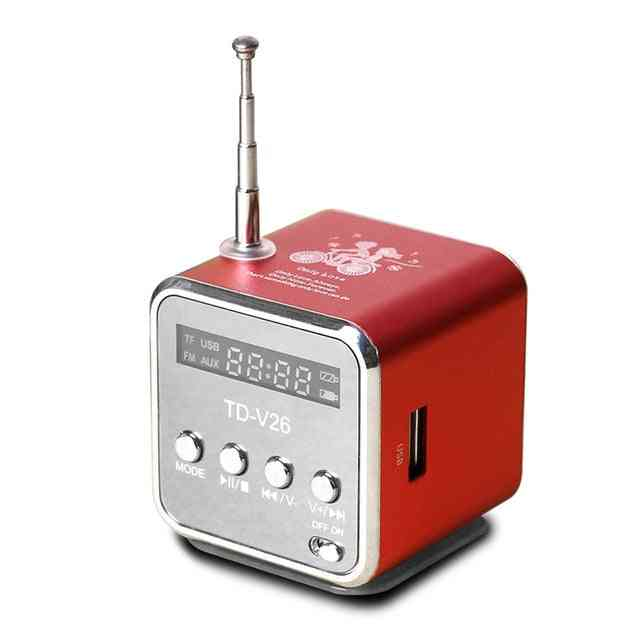 Mini Radio Fm Digital Portable Speakers With Fm Receiver Support Sd/tf Card