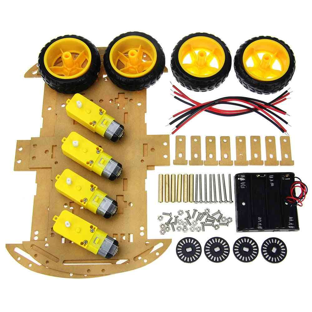 4/2wd Robot Smart Car Chassis Kits With Speed Encoder