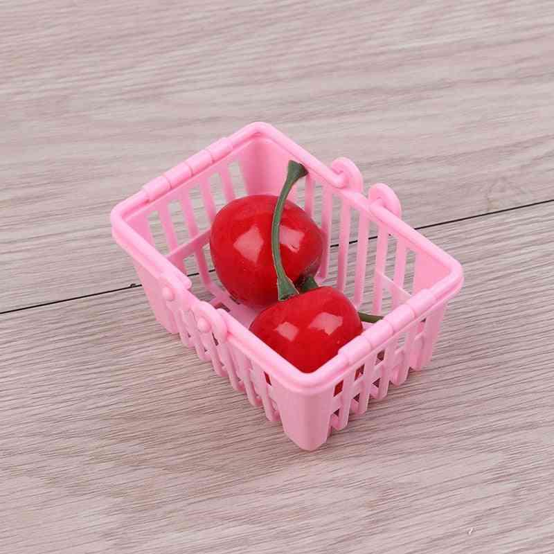 Mini Hand Basket Model - Doll House Miniature Furniture