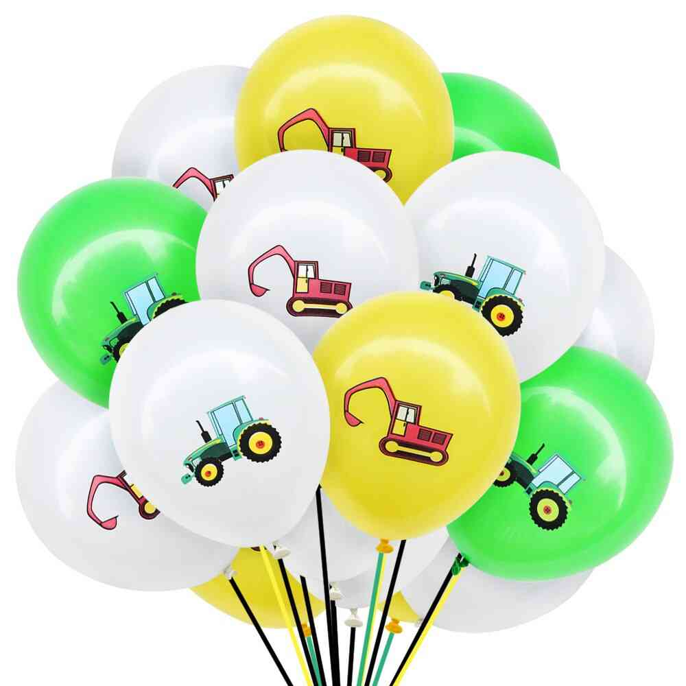 Construction Vehicle - Excavator Latex, Air Balloons