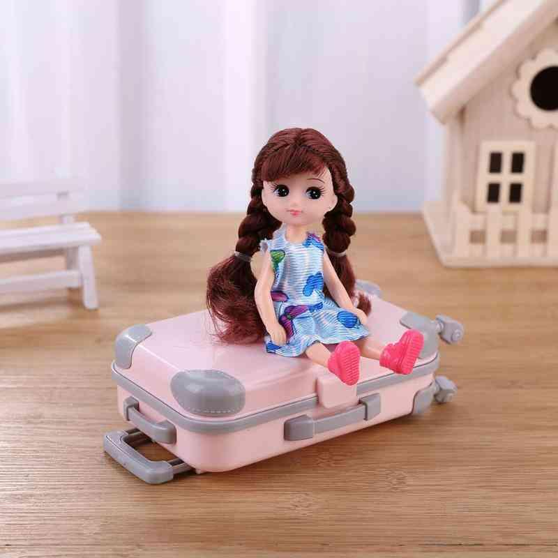 Plastic 3d Travel Suitcase Toy - Dolls Accessories