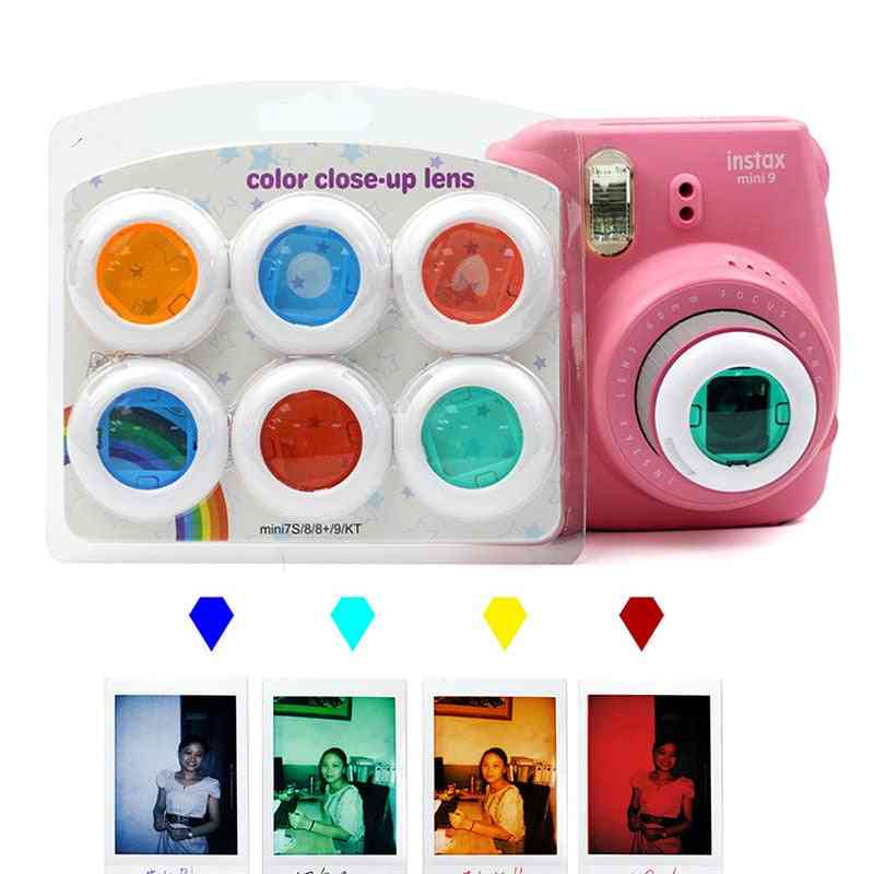 6  Colorful Camcorder Close-up Lens Filter