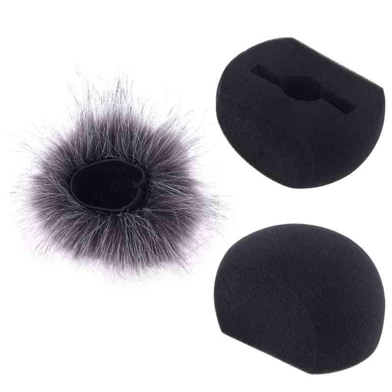 Foam Mic Wind Cover Furry Windscreen Muff For Zoom H5 H6 Recorder Microphone