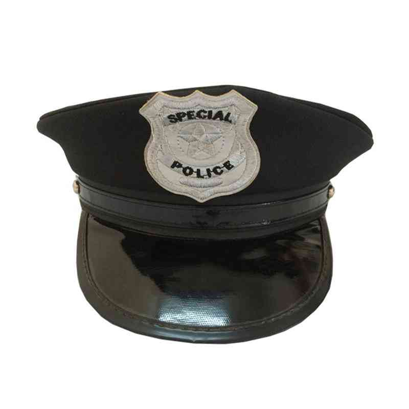 Octagon Police Cap Occupations- Classic Adults Police Military Hat Stage Show Cap For Party Cosplay Performance Masquerade