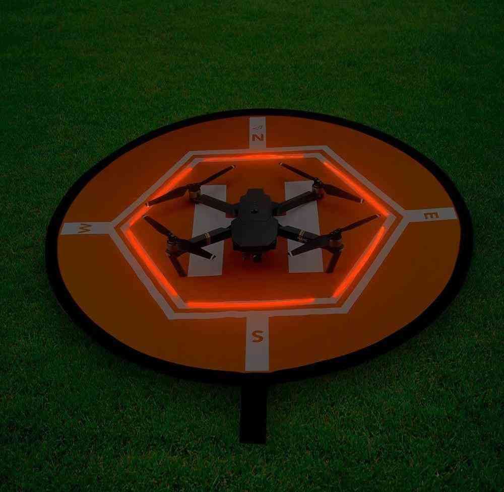 Drone Landing Parking Pad With Reflective Strip Set.
