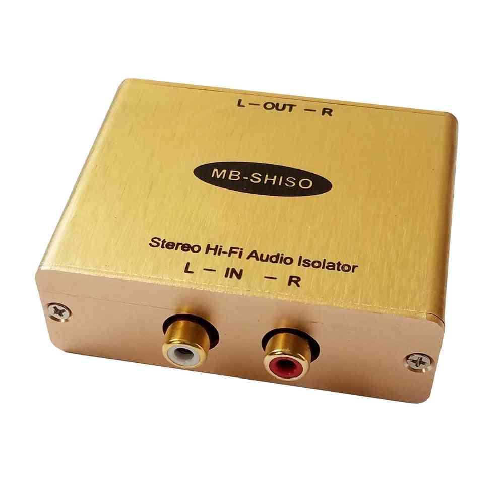 Hi-fi Audio Isolator Rca Amplifier - Audio Noise Filter Ground