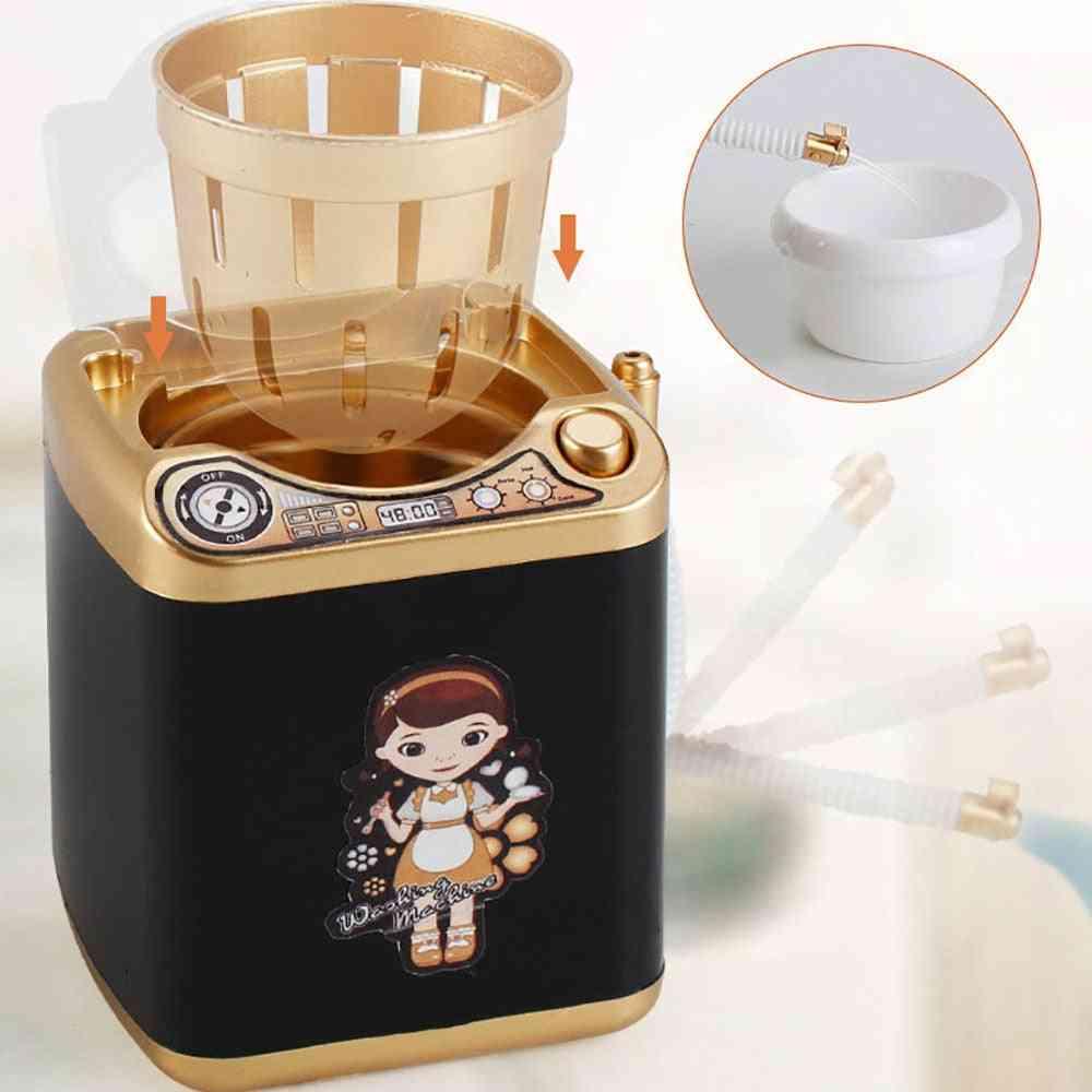 Mini Multifunction Kids Washing Machine Toy - Beauty Sponge Brushes Washer