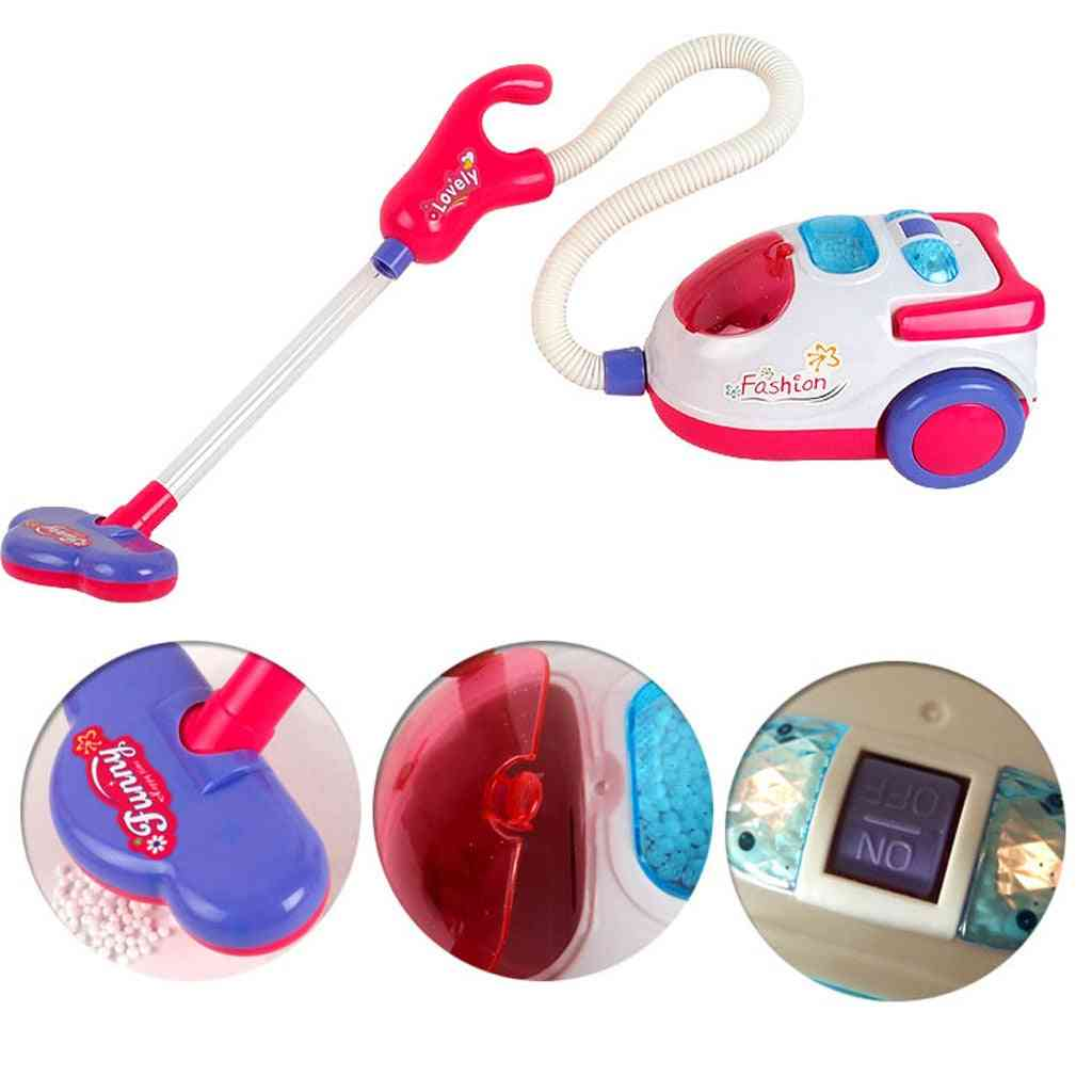 Vacuum Cleaner Role Hoover Fun Realistic Toy With Light Sound Play