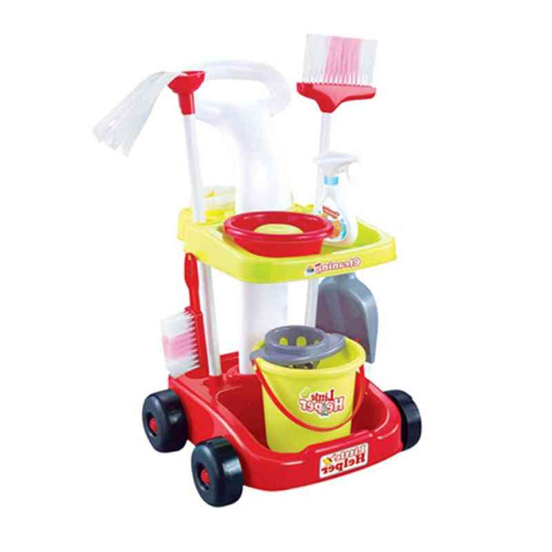 Play Home Kids Housekeeping Cleaning Washing Machine Mini Clean Up Play Toy