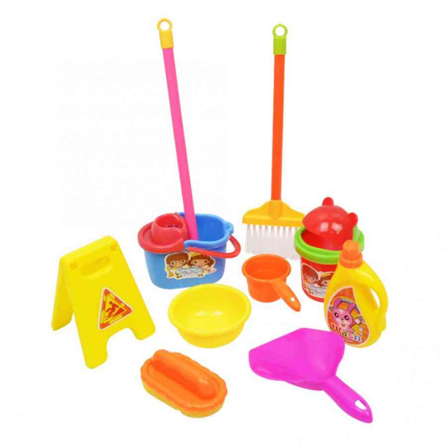 Simulation Cleaning Set- Mop, Broom And Many More-children Play House