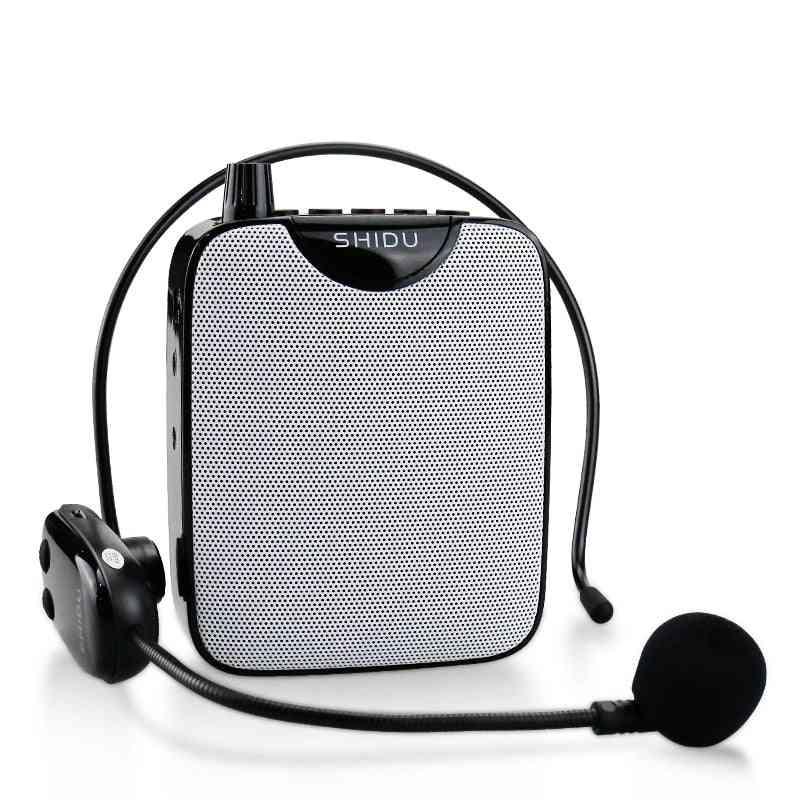 Portable  Wireless Uhf Voice Amplifier, Microphone, Aux Audio Speaker