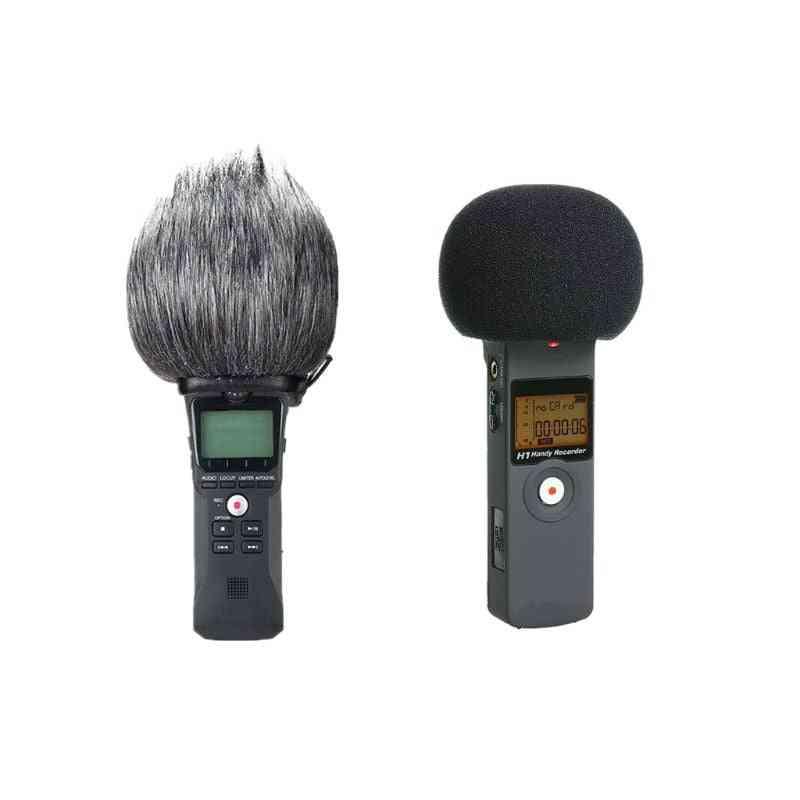 Furry Windscreen Muff Foam Filter - Microphone Windproof Cover
