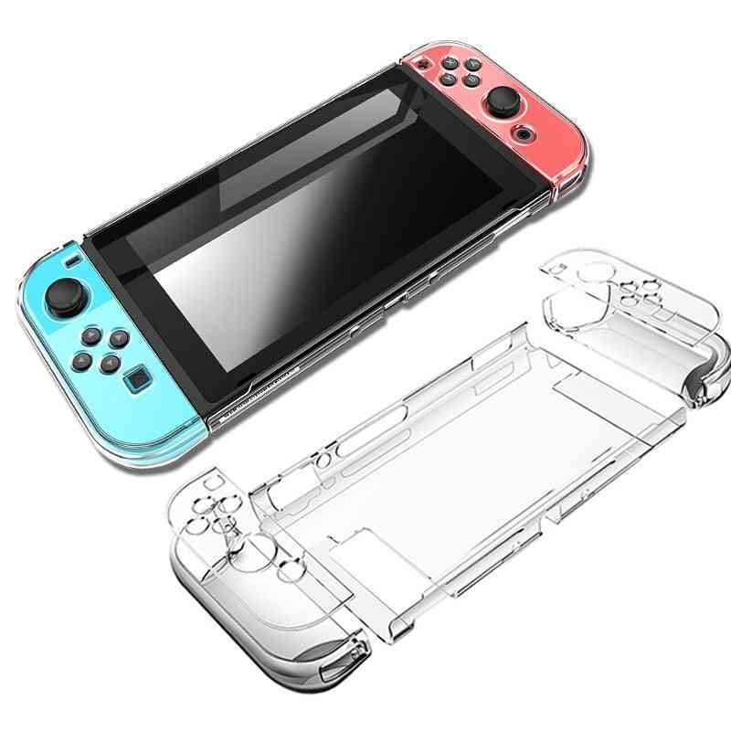 Hard Pc Protection Cover For Nintend Switch - Ns, Nx Case Transparent, Crystal Shell Console Controller Accessories With Stand Cases