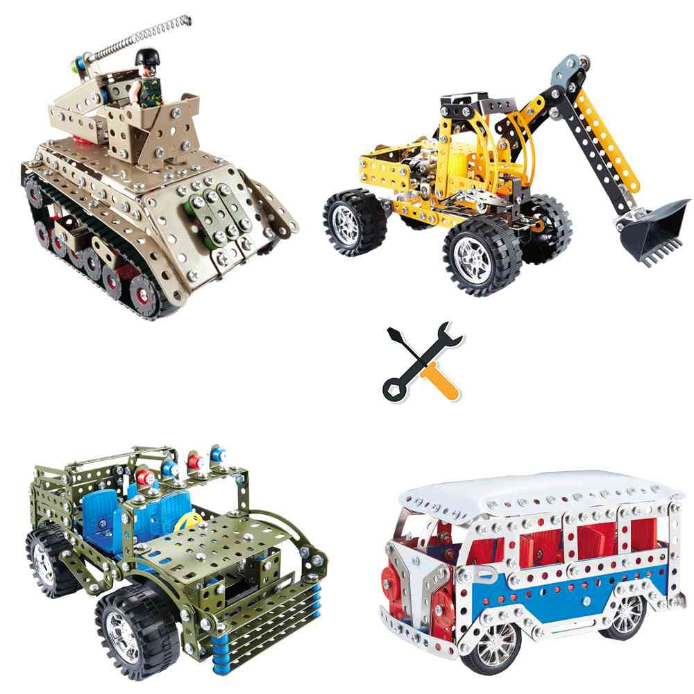 Toys Jeep, Tank, Engineering, Vehicle Assembly Car Intelligence Educational For