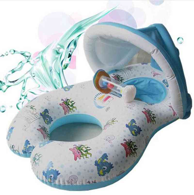 Inflatable Mother Baby Float Circle Ring Toy - Child Beach Swimming Pool Accessories