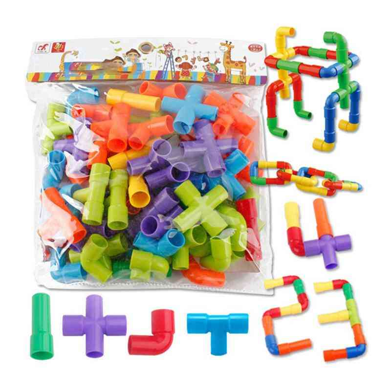 Safe And Durable Set Of Pipes-puzzle Assembling Interlocking Set
