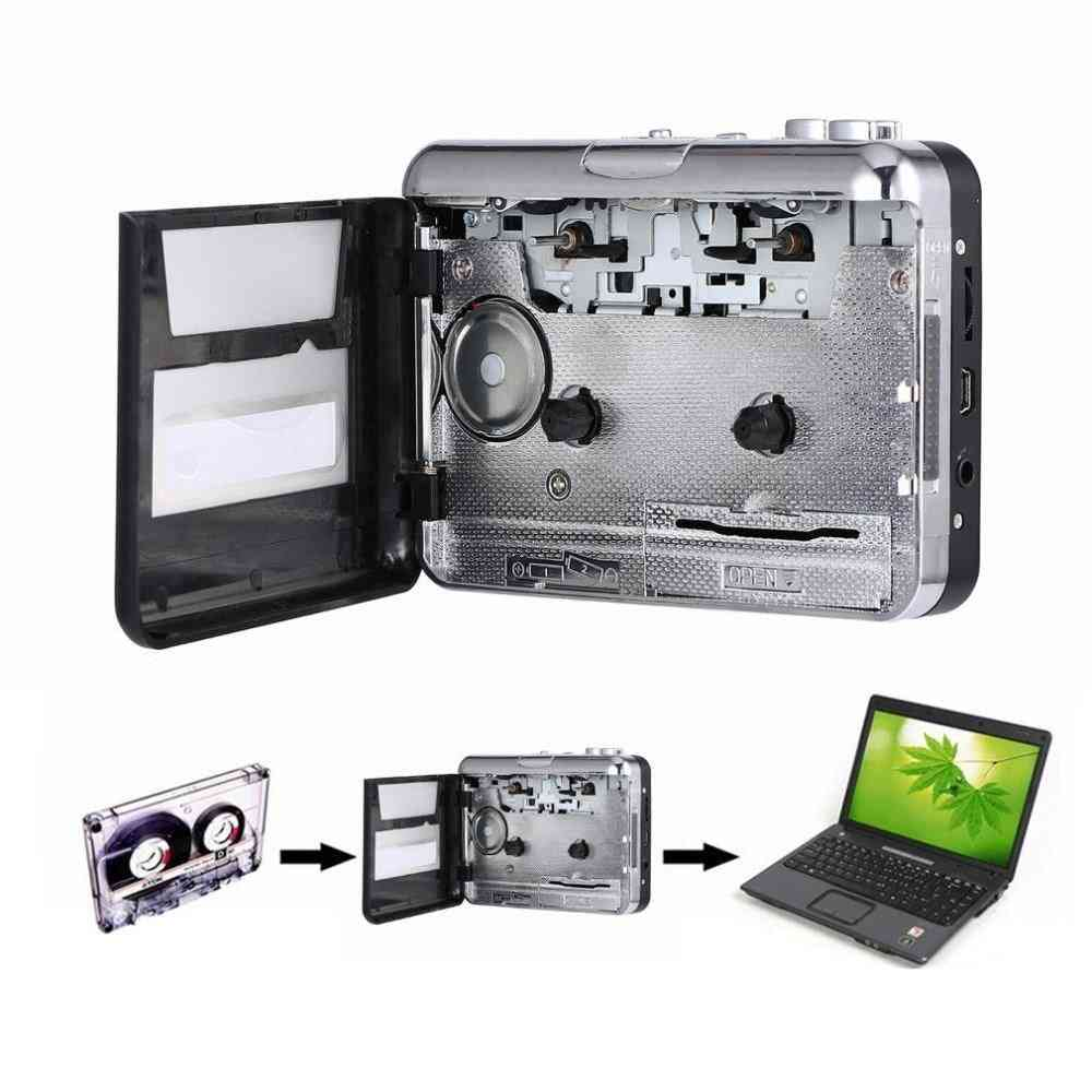 Usb2.0 Portable Cassette Tape To Mp3 Audio Converter