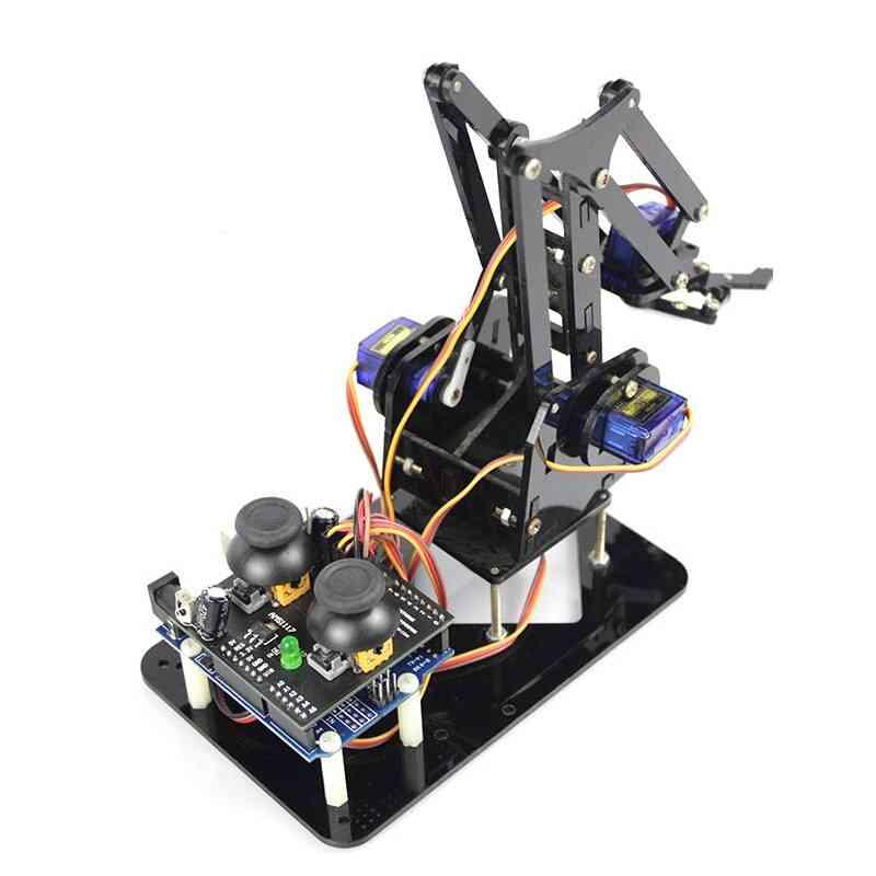 Cheap 4 Axis Acrylic Robot Arm