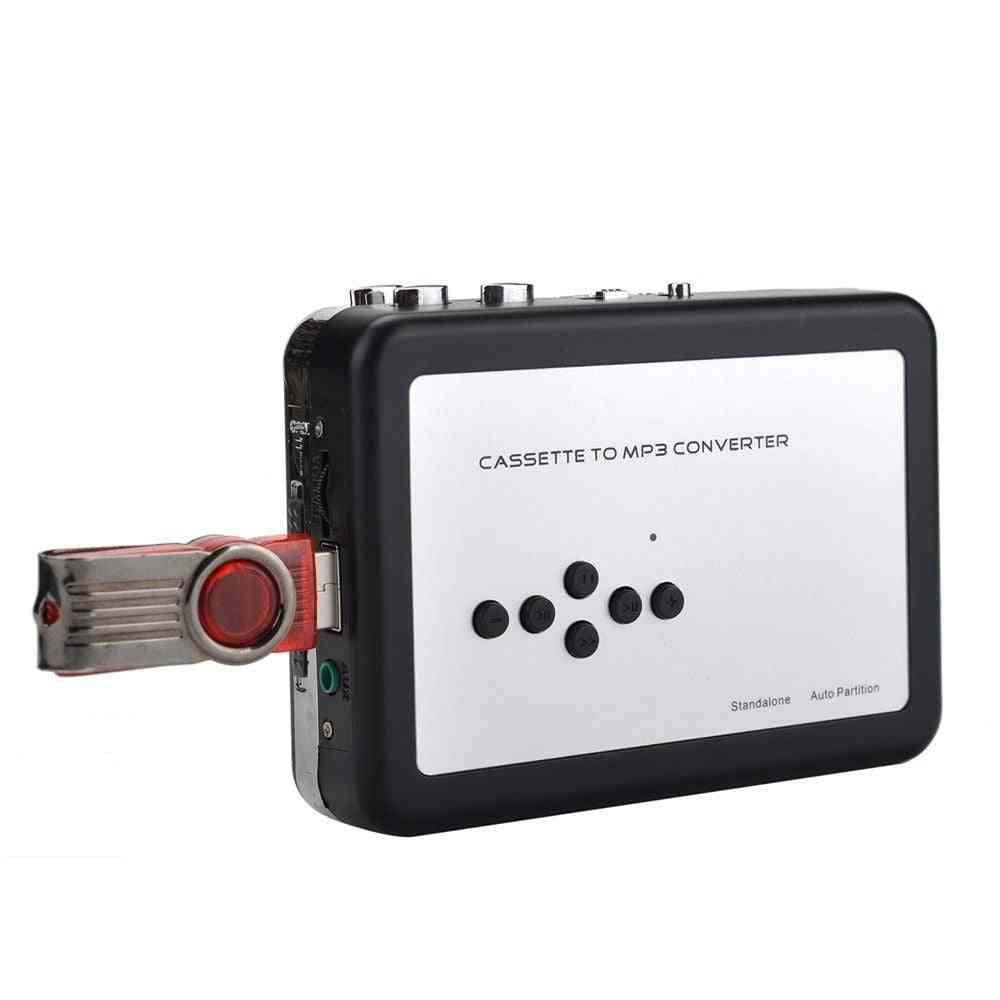 Cassette Tape To Mp3 Converter, Usb Cassette Capture Walkman Tape Player Convert Tapes To Usb Flash Drive, No Need Pc