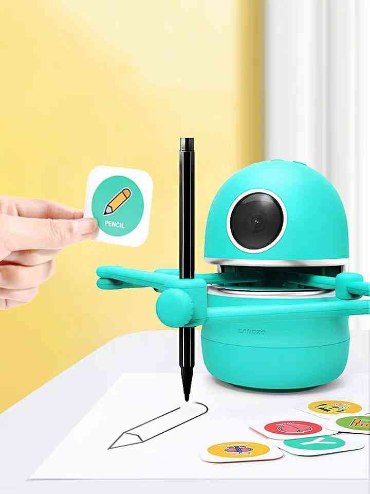 Multiple Themes Pictures Drawing Robots Technology  Kids Automatic Painting Learning Art