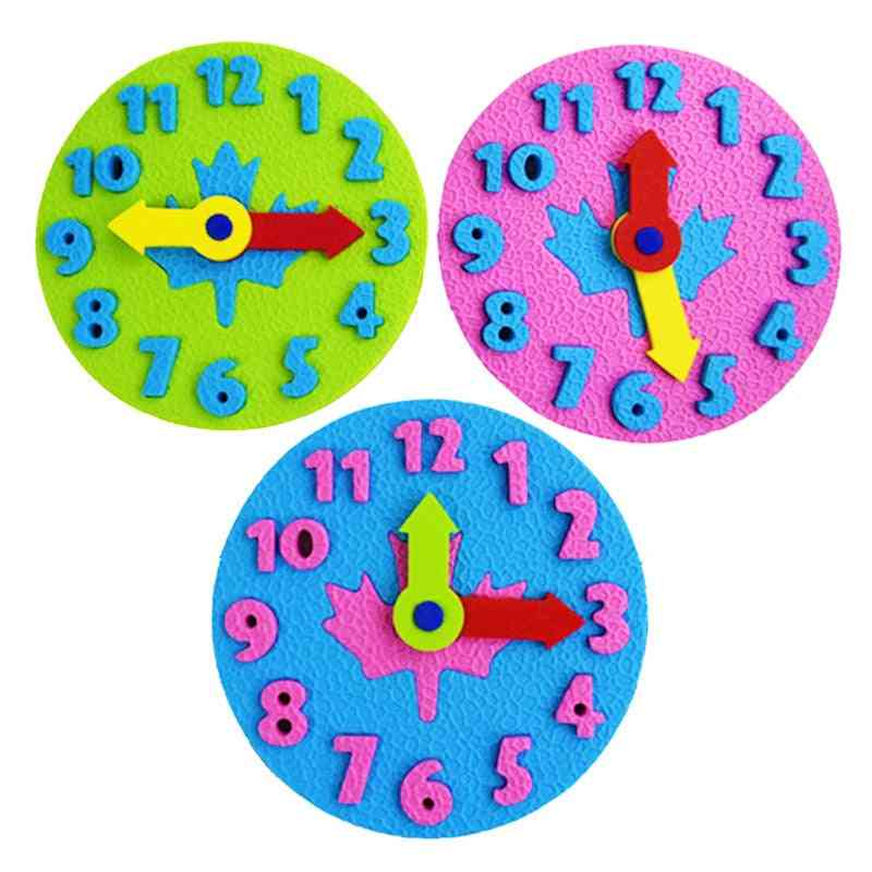 Eva Spell Insert Watch Puzzle - Kid Digital Time Learning Teaching Aids