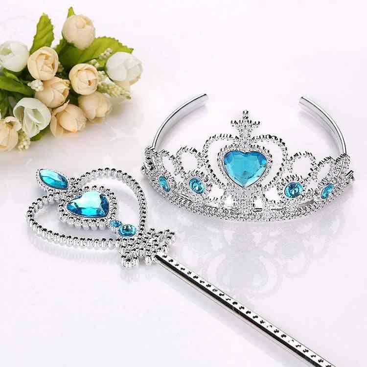 Hair Wear Crown-headband And Magic Wand Set For Girl
