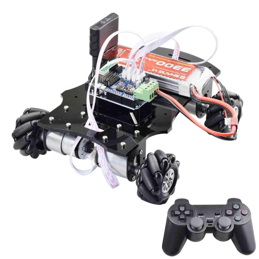 4wd Mecanum Wheel Robot Car Chassis Kit - Directional Platform With Encoder Motor