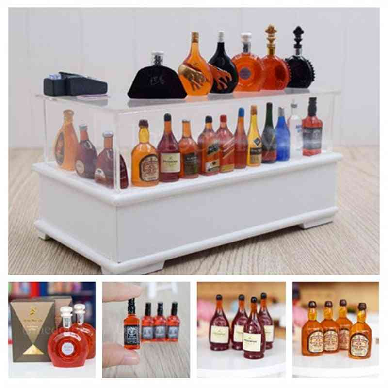 Simulation Whisky Wine Bottles - Pretend Play Doll Food And Drink Accessories