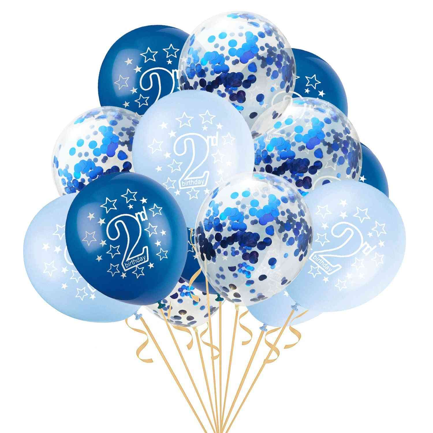 2nd-happy Birthday-latex Party Balloons For Kids
