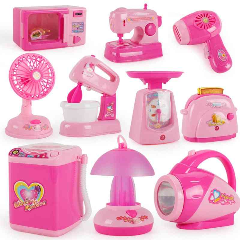 Mini Kitchen Light-up & Sound Plastic Simulation Home Appliances House Toy Baby / Pretend Play