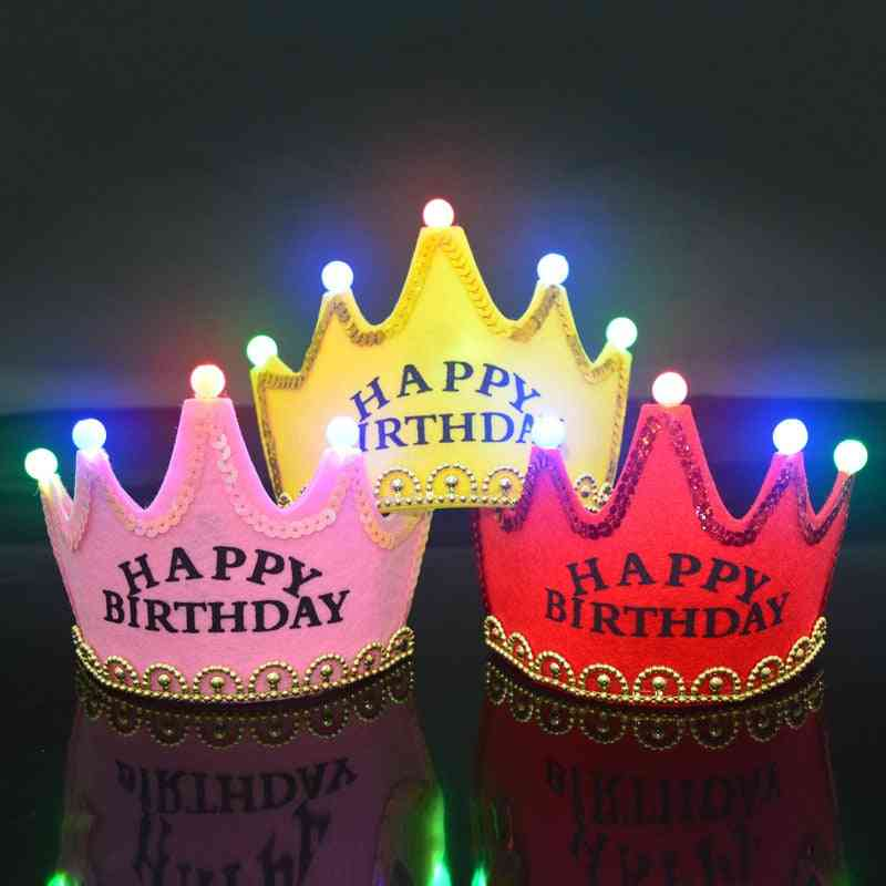 Happy-birthday-led Flashing Crown, Hats Party